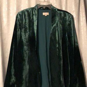 Loft Jade Green drape jacket